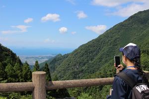 標高750mからの素晴らしい眺めにも出逢いました
