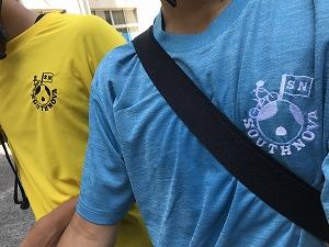 胸にはsouthnovaのチームロゴを刺繍に(デザインは1年次MSくん)